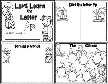 Letter Pp- Interactive Activities Booklet