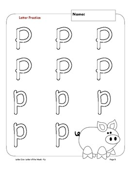 Letter Pp (P is for Planets): Letter Zoo- Preschool Curriculum