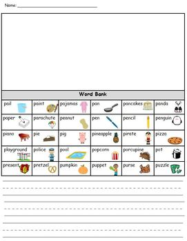 Letter Pp Phonics and Writing Pack