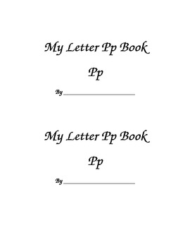 Letter Pp Printable Book