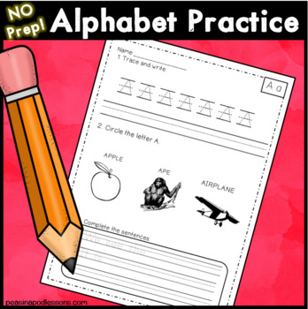 Handwriting Practice Initial Sounds & Letter Practice