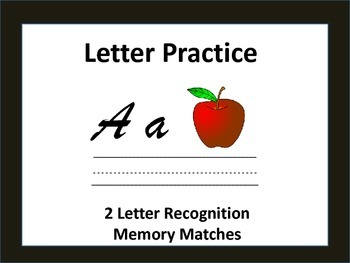 Literacy Centers: Letter Practice: Memory Match