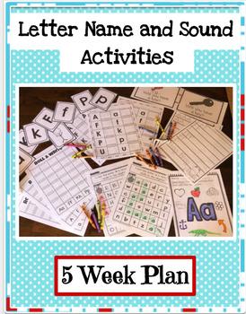 Letter Practice 5 Week Plan