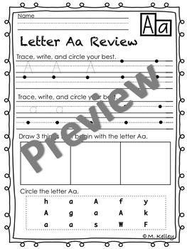 Letter Practice Aa - Zz