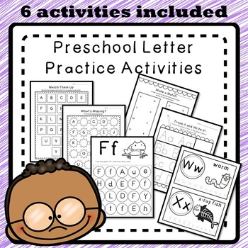 Letter Practice Activity Pack - Alphabet A-Z Worksheets