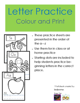 Letter Practice - Colour and Print