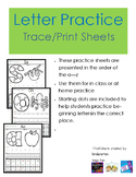 Letter Practice - Fill, Colour, Trace, Print and Find