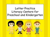 No-Prep Literacy Centers: Preschool and Kindergarten: Letters