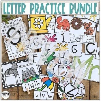 Kindergarten Letter Practice NO PREP Activities