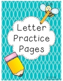 Letter Practice Pages