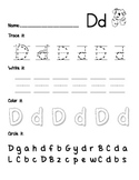 Letter Practice Pages A-Z