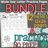 Letter Formation Practice Worksheets BUNDLE for the Whole Yaar
