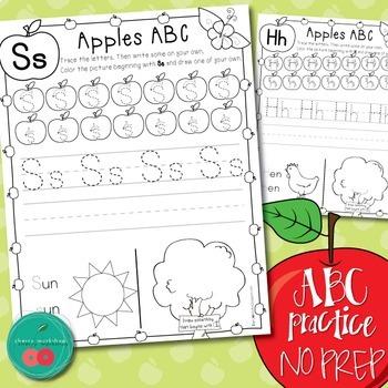 Letter Practice Printables - autumn activities