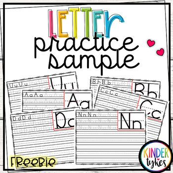 Letter Practice Sample Freebie