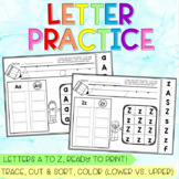 Letter Practice Sheets A to Z - Tracing, Sorting, Discrimi