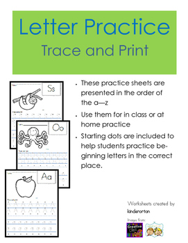 Letter Practice - Trace and Print