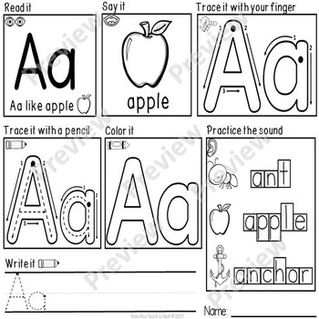 Letter and Handwriting Practice Worksheets