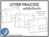 Letter Practice Worksheets - Trace, Write, Color, Find