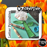 Beginning Letter Cut and Paste Matching Flower Activity!