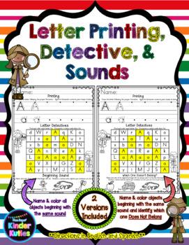Letter Printing, Detectives & Sounds