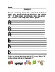 Letter Printing Practice and Sound Recognition Homework, Letters A-F