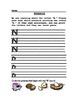 Letter Printing Practice and Sound Recognition Homework, Letters M-R
