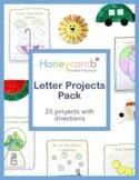 A-Z Letter Projects Pack for Preschool, PreK, Kindergarten