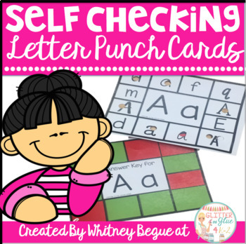 Letter Punch Cards- Self Checking!