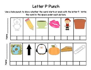 Letter Punch for Letter P