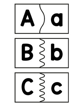 Matching Uppercase and Lowercase Letter Puzzles