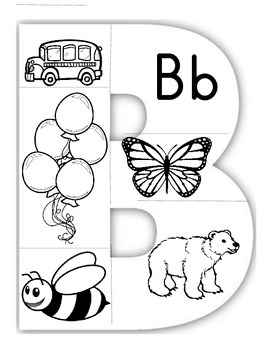 Letter Puzzles Black and White