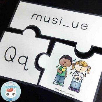 French Puzzles - les lettres de l'alphabet