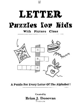 Letter Puzzles for Kids