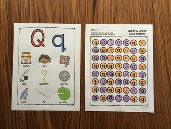 Letter Q | Alphabet Printables and Centers