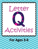 Letter Q Activities- 46 Pages! {Common Core}