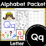 Letter Q Activity and Center Packet