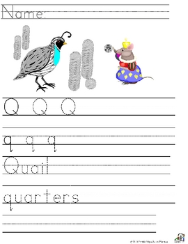Letter Q  Alliteration Set