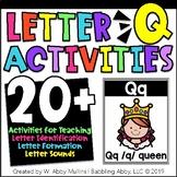 Letter Q  Alphabet Activities   Recognition, Form, and Sounds