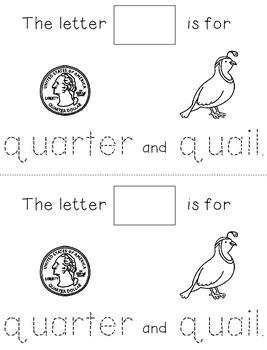 Letter Q: Alphabet Activity Book