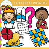 Letter Q Clip Art { Alphabet Beginning Sounds Clip Art}