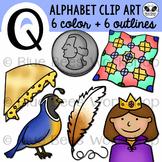 Letter Q Clip Art Alphabet / Beginning Sound Q