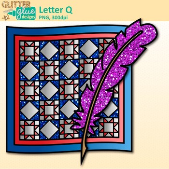 Letter Q Alphabet Clip Art {Teach Phonics, Recognition, and Identification}