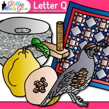 Letter Q Alphabet Clip Art {Teach Phonics, Recognition, and Identification}