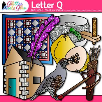 Letter Q Alphabet Clip Art {Teach Phonics, Recognition, an