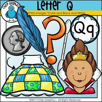 Letter Q Alphabet Clip Art Set - Chirp Graphics