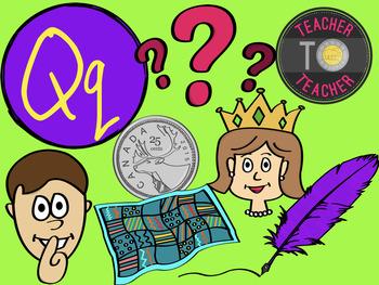 Letter Q - Alphabet Clipart {TeacherToTeacher Clipart}