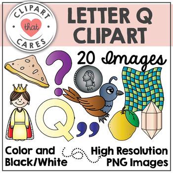 Letter Q Alphabet Clipart by Clipart That Cares
