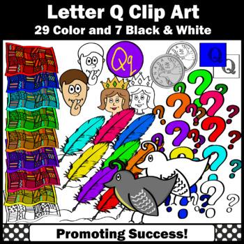 Letter Q, Alphabet Letters Clip Art, Letter Sounds Clipart SPS