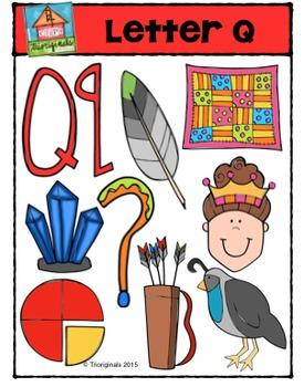 Letter Q Alphabet Pictures {P4 Clips Trioriginals Digital Clip Art}