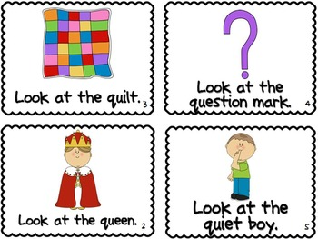 Letter Q Book of Beginning Sounds-Emergent Reader w/R Record-CCSS Aligned